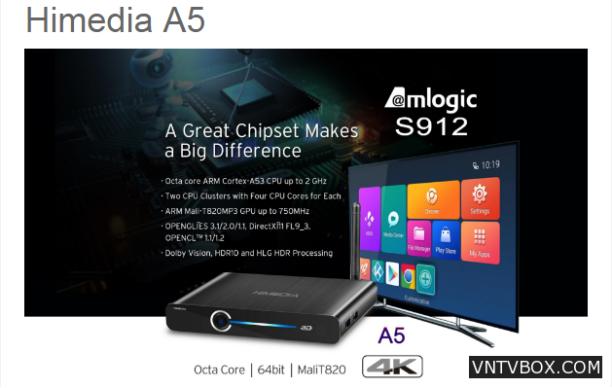 Android TV Box Himedia A5 mua ở đâu chính hãng