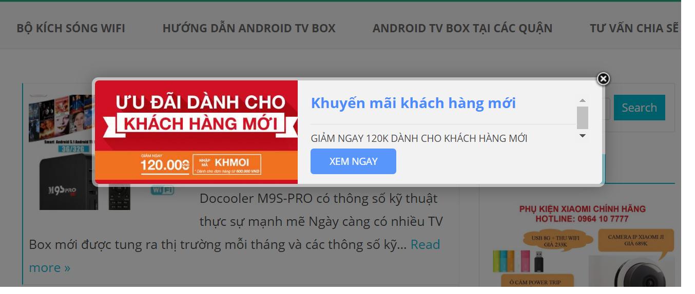 Android TV Box khuyến mãi khách hàng mới cuối năm